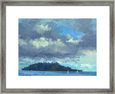 Sailing Framed Print by Diane McClary