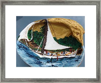 Sailing Forest Sea Framed Print by Debbie Nester