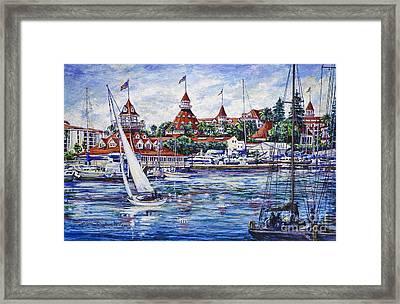 Sailing Glorietta Bay Framed Print