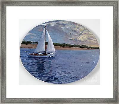 Sailing Homeward Bound Framed Print by Stella Sherman