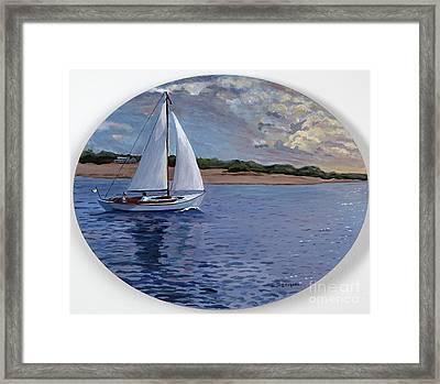 Sailing Homeward Bound Framed Print