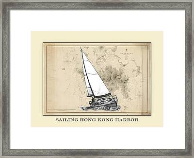 Sailing Hong Kong Harbor Framed Print