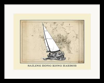 Boats In Harbor Mixed Media Framed Prints
