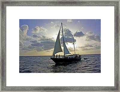Framed Print featuring the photograph Sailing In Aruba by Suzanne Stout