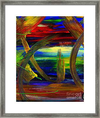Sailing In Calmness Over A Troubled Sea Framed Print by Angela L Walker