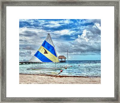 Sailing In Cancun Framed Print
