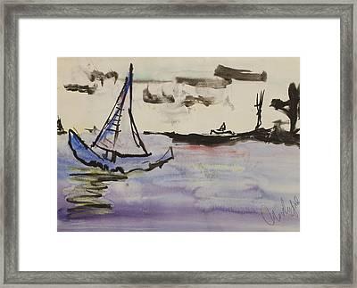 Sailing In Door County 2 Framed Print
