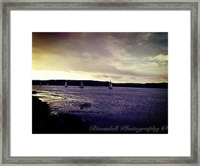 Sailing In Kinsale Framed Print by Maeve O Connell