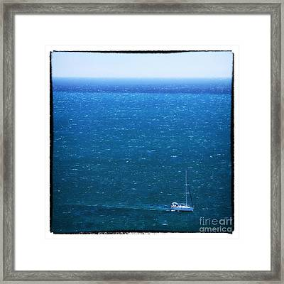 Sailing In Portugal Framed Print by John Rizzuto