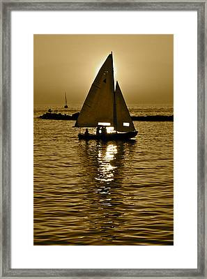 Sailing In Sepia Framed Print by Frozen in Time Fine Art Photography