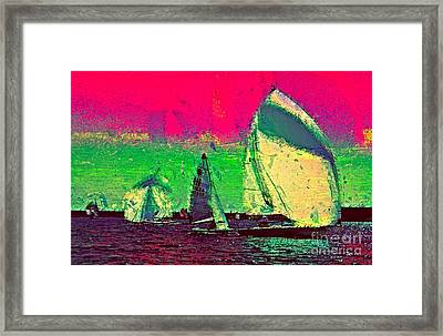 Framed Print featuring the photograph Sailing In Shimmer by Julie Lueders