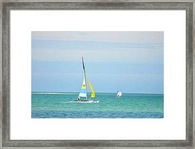 Sailing In The Gulf Of Mexico Framed Print by Bill Cannon