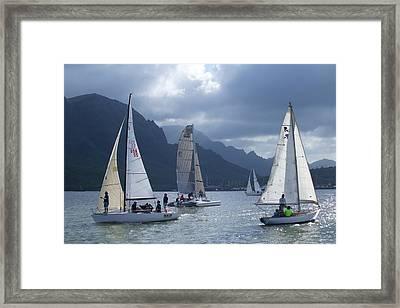 Sailing In The Light Framed Print