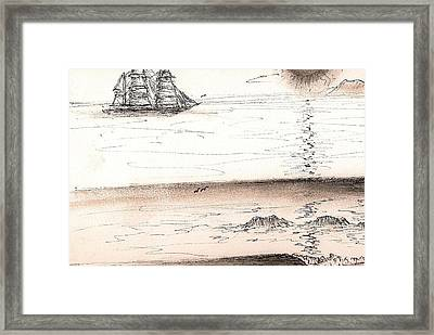 Sailing Into The Past Framed Print