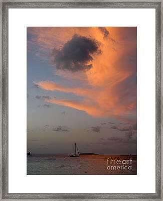 Sundown Over Trunk Bay Framed Print