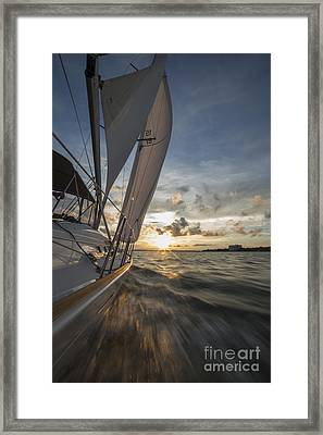 Sailing Into The Sunset Charleston Sc Framed Print by Dustin K Ryan