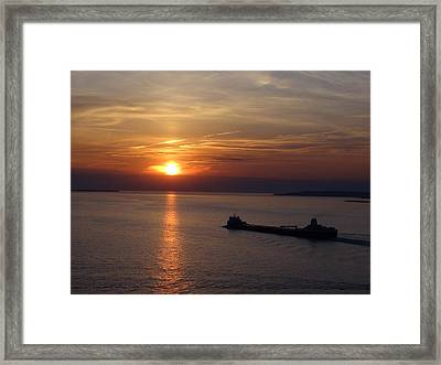Sailing Into The Sunset Framed Print by Keith Stokes