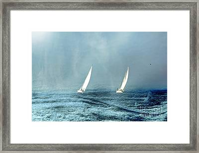 Sailing Into The Unknown Framed Print