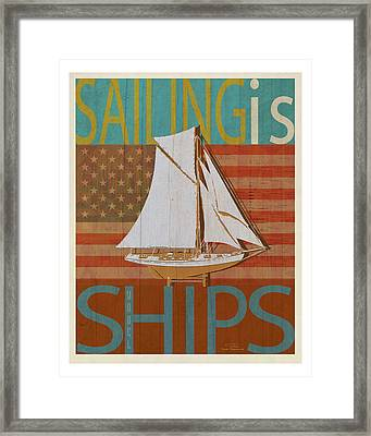 Sailing Is Model Ships America Framed Print by Joost Hogervorst