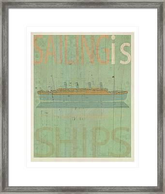 Sailing Is Titanic Model Framed Print by Joost Hogervorst