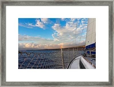 Sailing Lahaina Bay Framed Print
