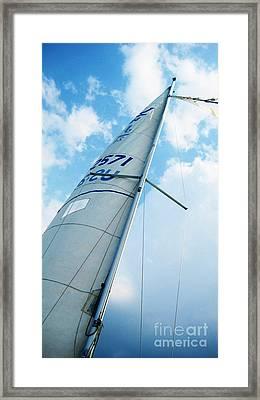 Sailing Lake Champlain Framed Print by Theo Westlake
