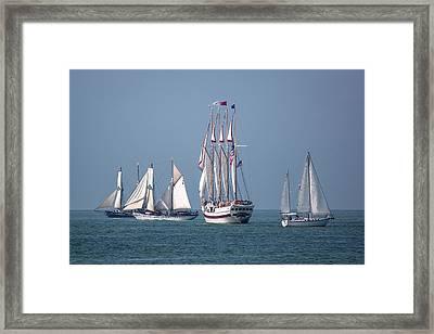 Sailing Lake Erie Framed Print