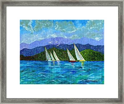 Framed Print featuring the painting Sailing by Laura Forde