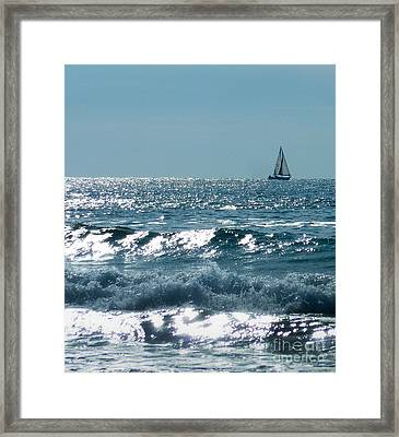 Sailing Framed Print by Mike Ste Marie