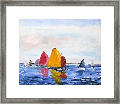 Sailing Nantucket Sound Framed Print by Michael Helfen