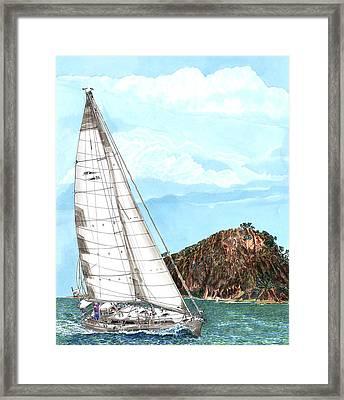 Sailing Sailing Sailing Framed Print by Jack Pumphrey