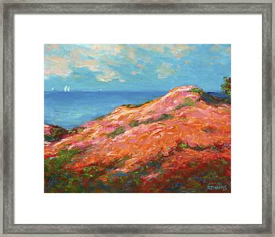 Sailing Off The Southern Coast Framed Print by Vernon Reinike