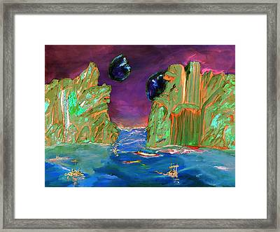 Sailing On Beta Antares 3 Framed Print