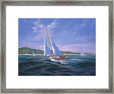 Sailing On Monterey Bay Framed Print