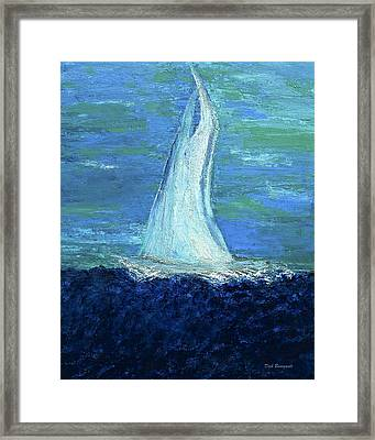 Sailing On The Blue Framed Print by Dick Bourgault