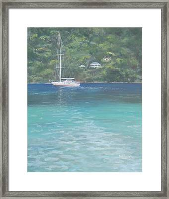 Sailing On The Caribbean Framed Print
