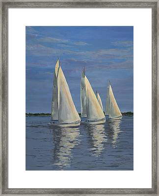 Sailing On The Chesapeake Framed Print by Edward Williams