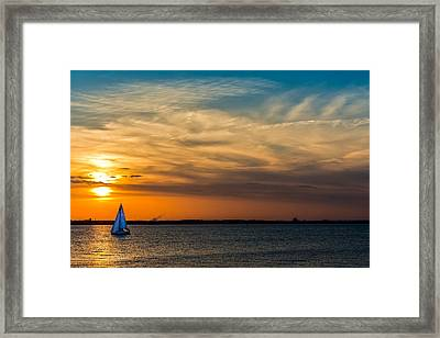 Sailing On The Chesapeake Framed Print