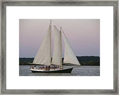 Sailing On The Potomac Framed Print