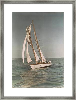 Sailing, One Of The Many Sports Framed Print by J. Baylor Roberts