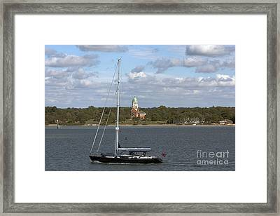 Sailing Past Netley Framed Print