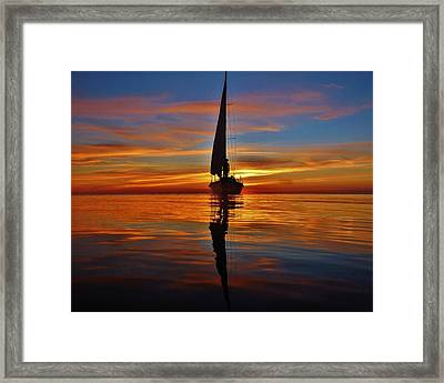 Sailing Perfection 19 7/5 Framed Print by Mark Lemmon