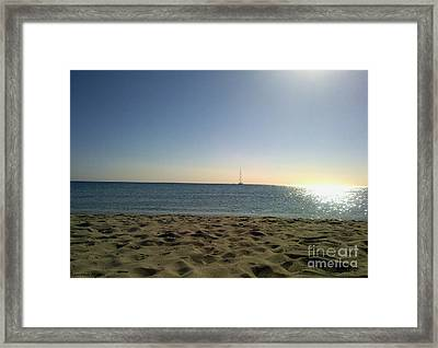 Framed Print featuring the photograph Sailing by Ramona Matei