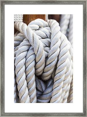 Framed Print featuring the photograph Sailing Rope 1 by Leigh Anne Meeks