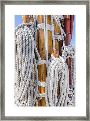 Framed Print featuring the photograph Sailing Rope 4 by Leigh Anne Meeks