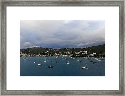 Sailing Saint Thomas Framed Print by Willie Harper