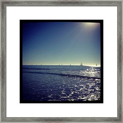 Sailing Framed Print by Selia Hansen