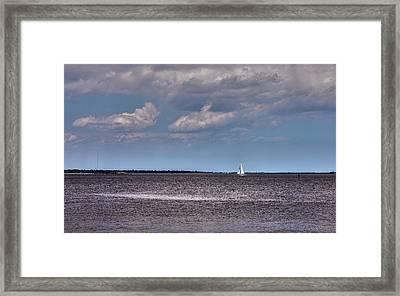 Framed Print featuring the photograph Sailing by Sennie Pierson