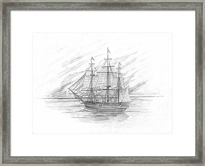 Sailing Ship Enterprise Framed Print by Michael Penny