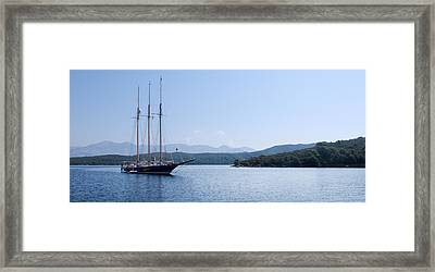 Sailing Ship In The Adriatic Islands Framed Print